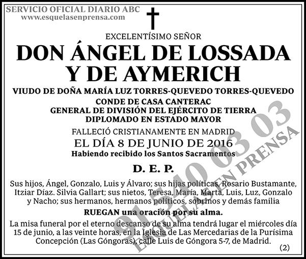 Ángel de Lossada y de Aymerich